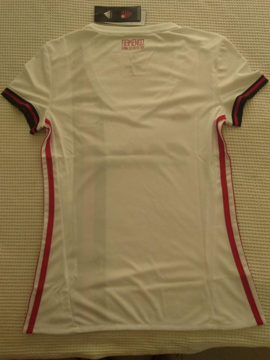 7feff786725 camisa feminina original flamengo adidas branca 2017 2018. Carregando zoom.