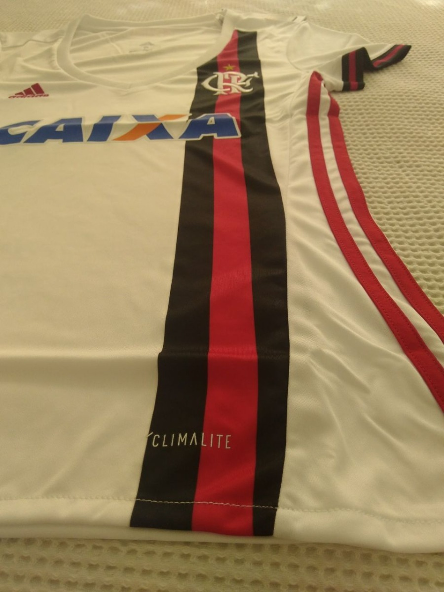8ac16b828f camisa feminina original flamengo adidas branca + regata. Carregando zoom.