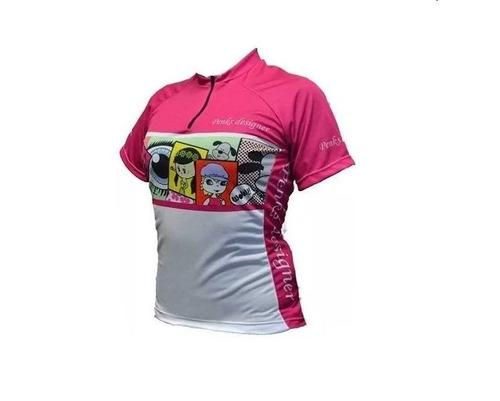 camisa feminina penks baby bike ciclismo