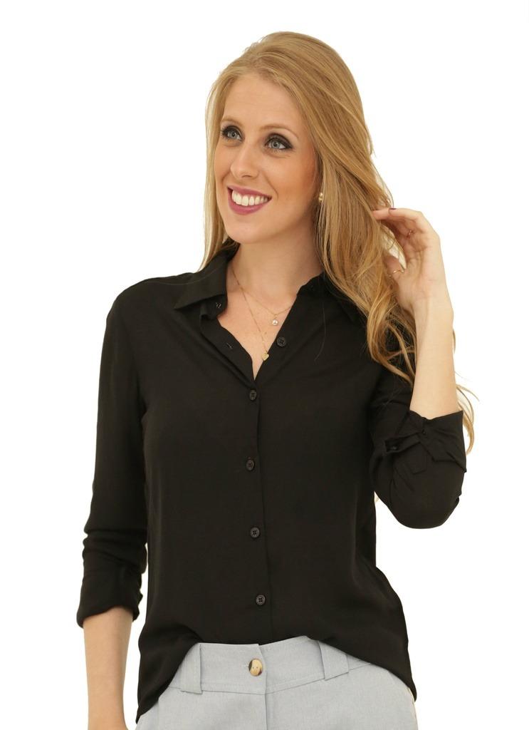 bbddcdba3d camisa feminina preta com renda nas costas. Carregando zoom.