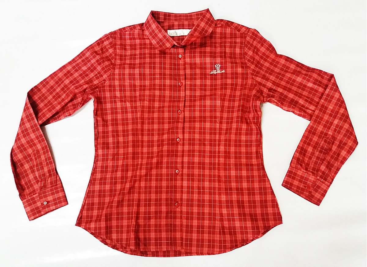 82559ca6c9b19 camisa feminina radade vermelha xadrez country manga longa. Carregando zoom.