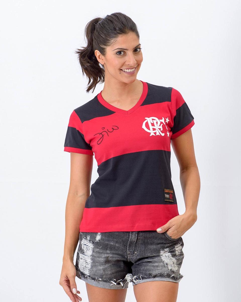 camisa feminina retrô flamengo braziline. Carregando zoom. f79ccc2754fc8