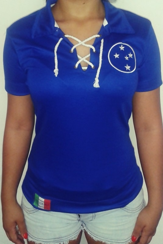 51ba874d44387 camisa feminina retro cruzeiro azul. Carregando zoom.