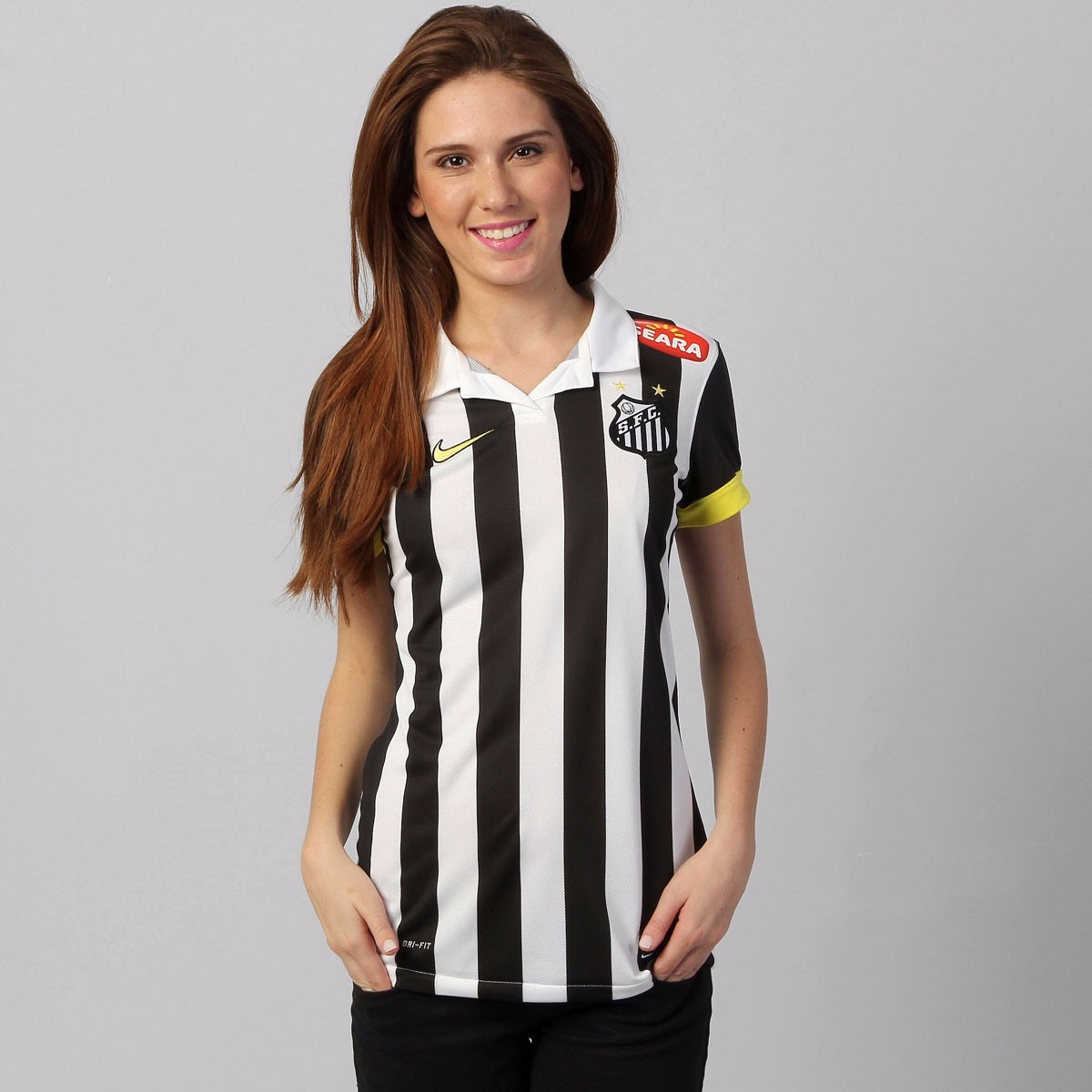 0d82e0ab71 Camisa Feminina Nike Santos Ii 13 14 Original - R  96