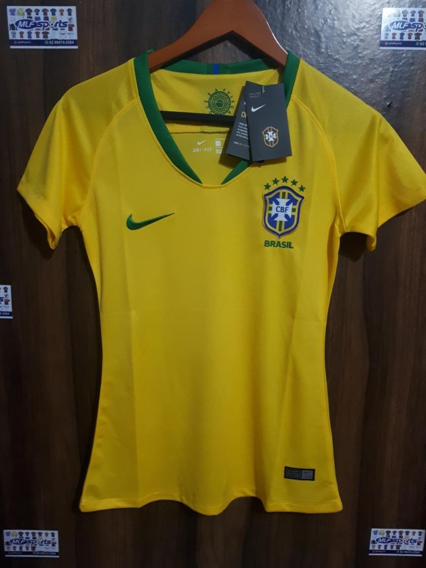 81ba1aeda2 camisa feminina seleção brasileira 2018 2019. Carregando zoom.