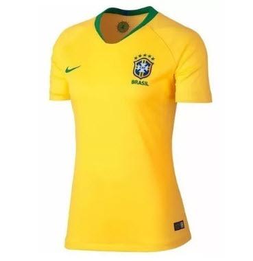 f4b9f29752 Camisa Feminina Seleção Brasileira Nike 2018 Oficial Copa - R  236 ...