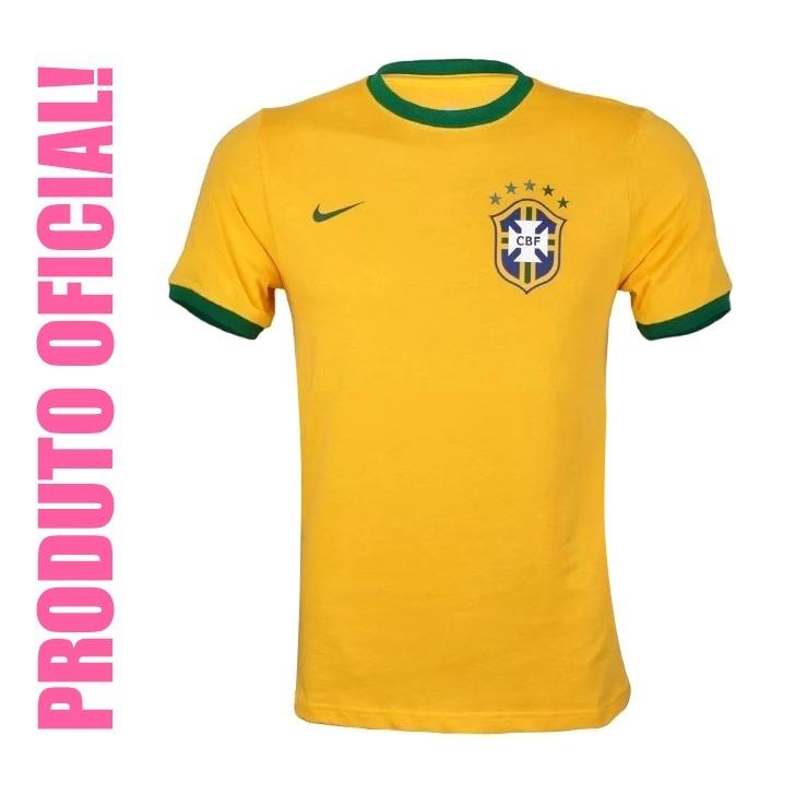 8633fdf76 Camisa Feminina Seleção Brasileira Nike Slim Fit Original - R  99