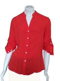42d6bf024c Camisa De Seda Vermelha Feminina - Calçados