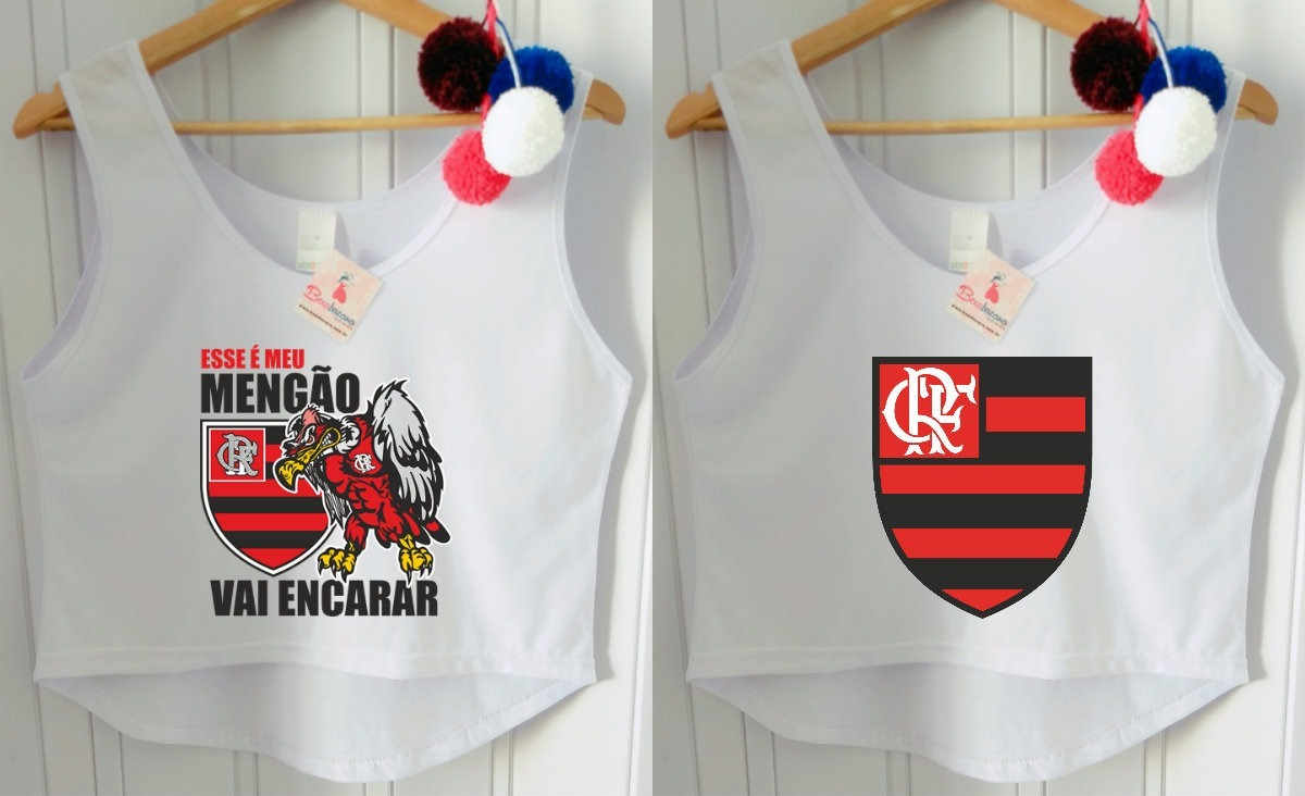 820dd541adebd Camisa Regata Feminina Times Futebol Flamengo Cropped Barato - R  49 ...