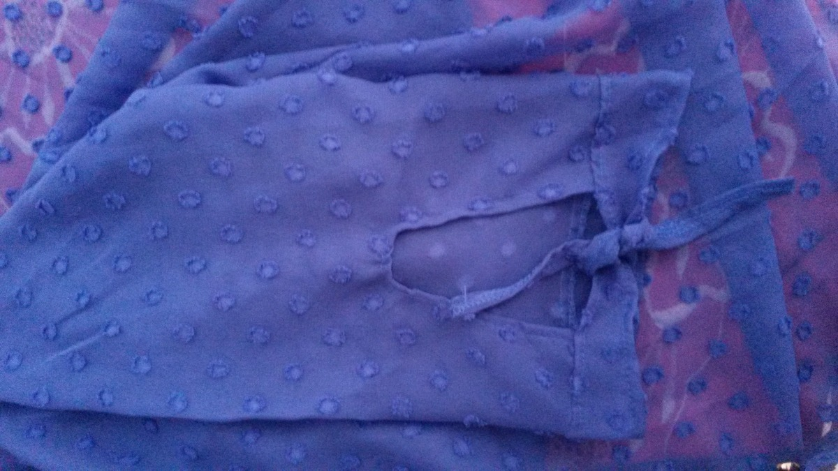 cbc7b1e26a camisa feminina transparente azul botões e detalhes g nova. Carregando zoom.
