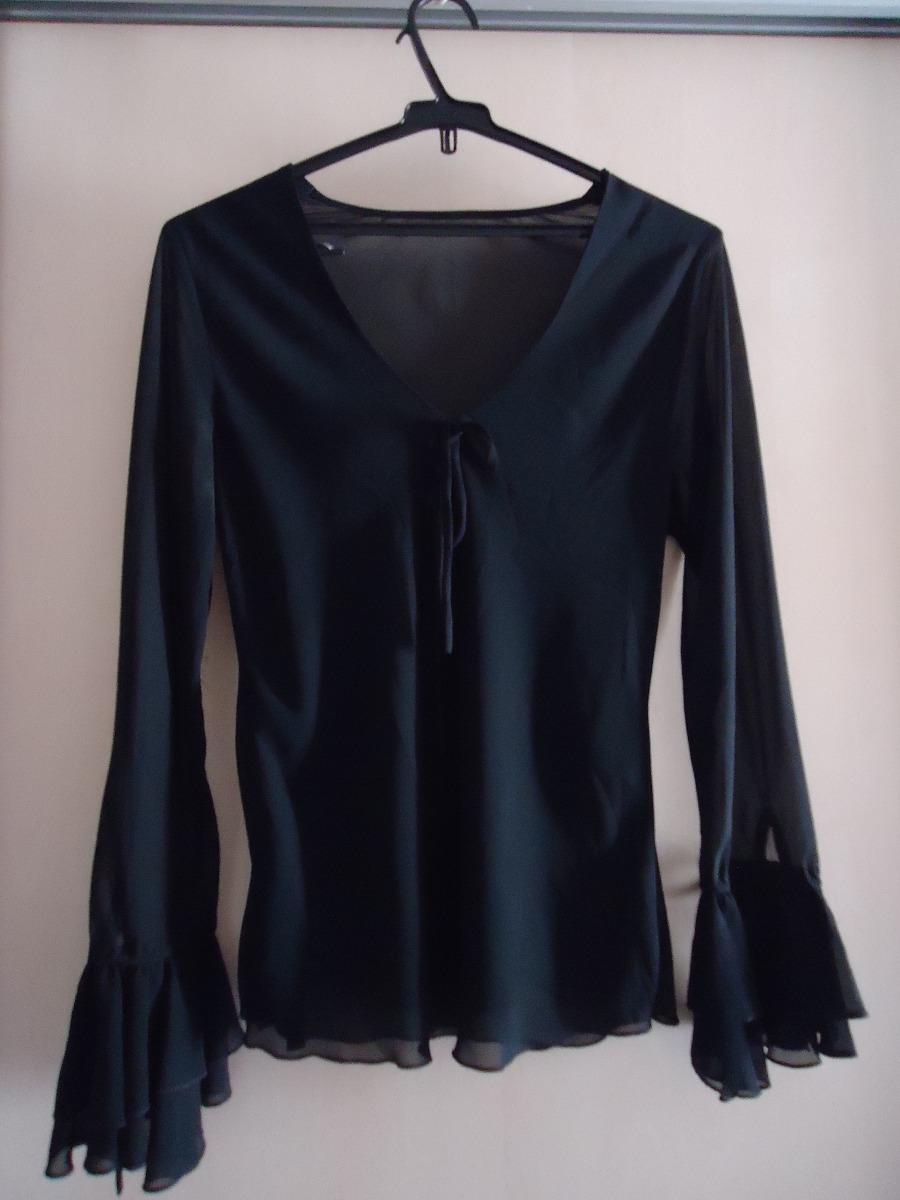 camisa feminina transparente manga longa m usada. Carregando zoom. 8b3b3ffe0ff