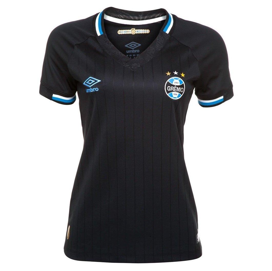 camisa feminina umbro grêmio of. 3 2018 2019 preto azul. Carregando zoom. af792b4945be5