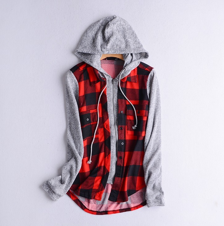 d77ef375fa8 Camisa Feminina Xadrez Capuz Moletom Zipper Importada Pronta - R ...