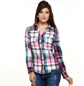 867f2a3af608 Camisa Jeans Feminina Marisa - Calçados, Roupas e Bolsas com o Melhores  Preços no Mercado Livre Brasil