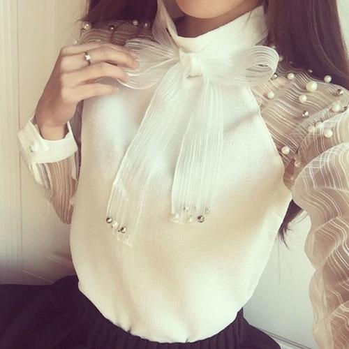 camisa feminino social manga longa