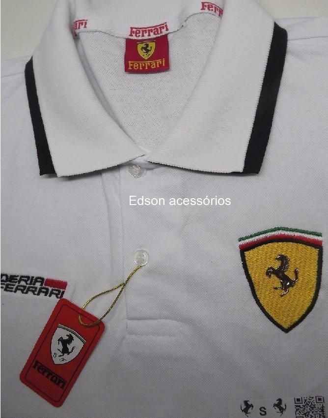 camisa ferrari gola polo masculina.(promoção). Carregando zoom. 16e7022058883