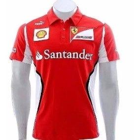 Camisa Ferrari Polo Santander Enviamos Em Até 24 Horas - R  79 995d96c3e13