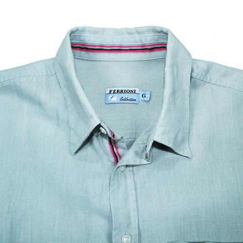 camisa ferrioni de lino talla g