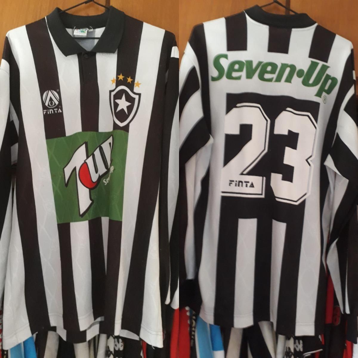 506af7ca58532 Camisa Finta Botafogo Manga Longa Rara De 95 96 Seven Up - R  1.200 ...