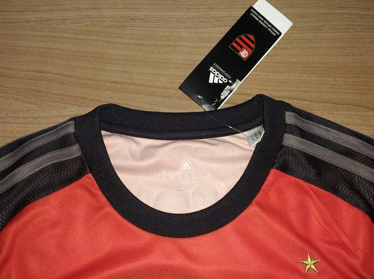 camisa flamengo 100% original adidas 2015 manga longa - 16. Carregando zoom. 2df64c776dd22