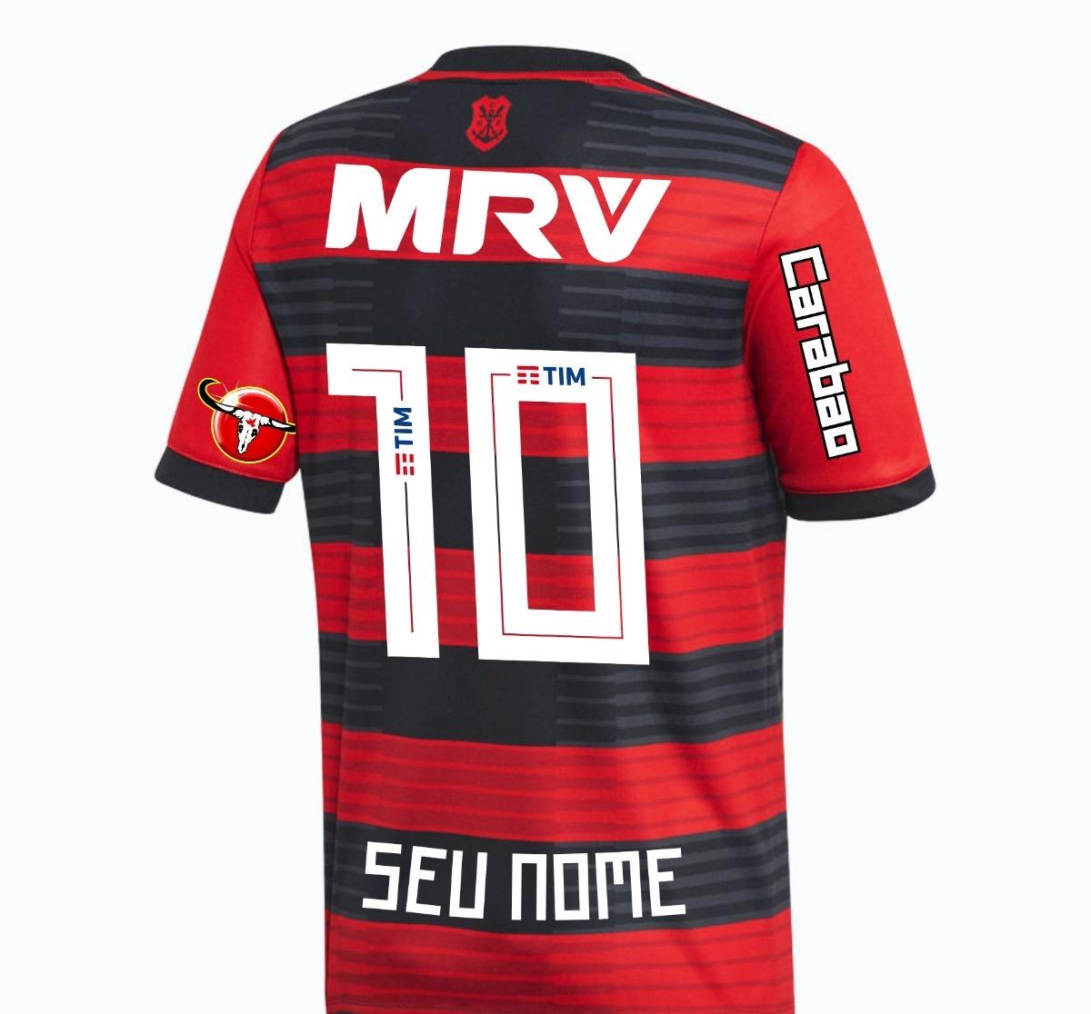 2c91106279e78 camisa flamengo 2018 patrocínios - personalizada nome e nº. Carregando zoom.
