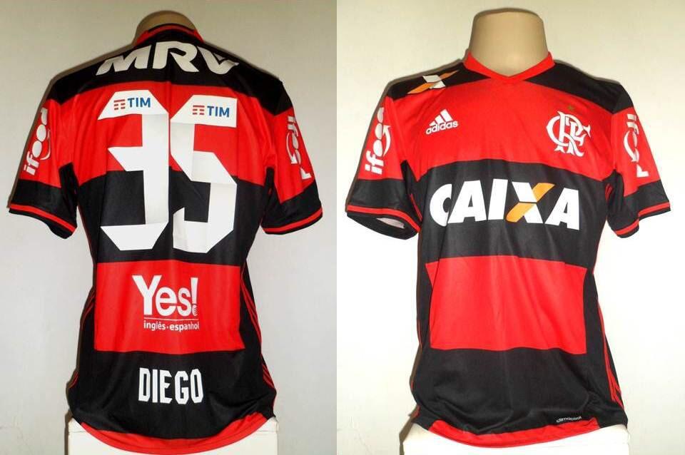 fcfb4100f7 Camisa Flamengo adidas 2016   2017 Oficial De Jogo  35 Diego - R  299