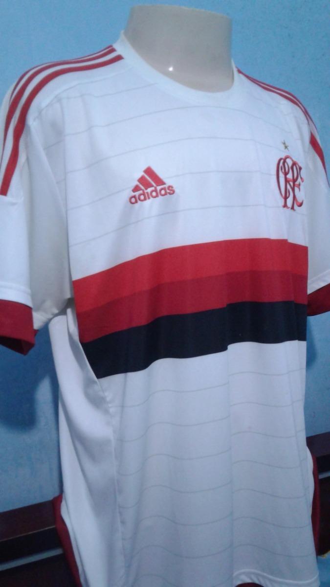 8b7e2444ff452 Camisa Flamengo adidas Branca 2015-2016 - R$ 139,99 em Mercado Livre