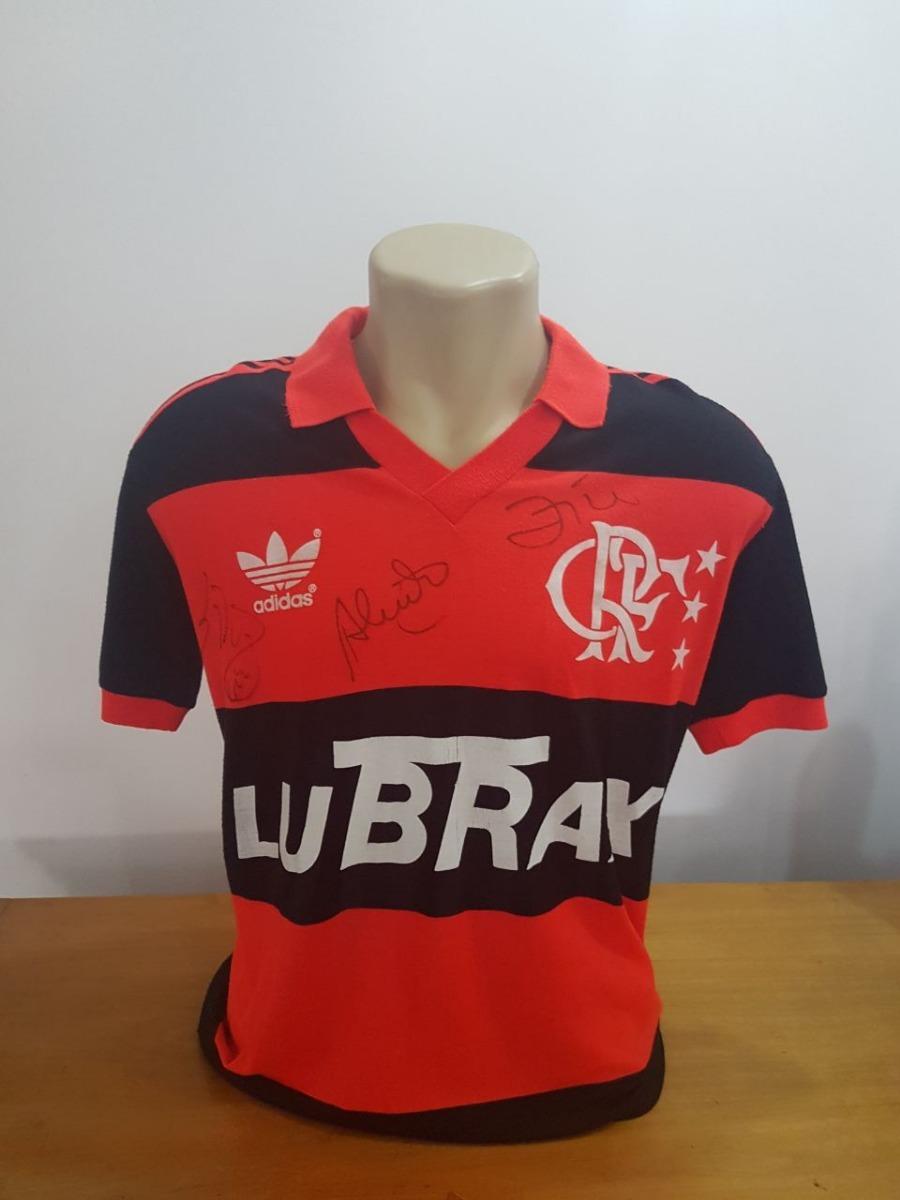 7fbe208525f camisa flamengo adidas - original 87 92 - autografo de zico. Carregando zoom .