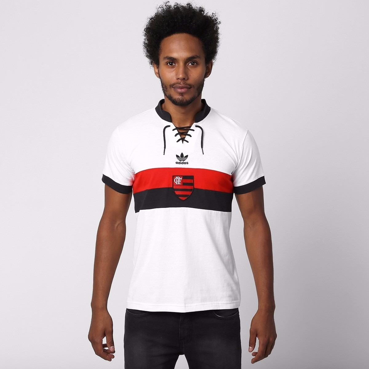 bfdd8b70a6 camisa flamengo adidas retrô branca original 2014   1938. Carregando zoom.