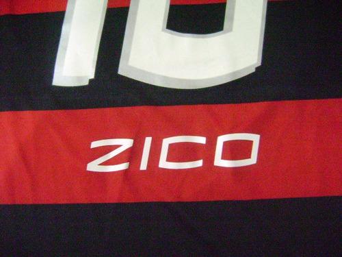camisa  flamengo  autografada  pelo  zico     tamanho   m
