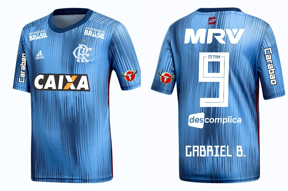 6f8a10f87ab79 Camisa Flamengo Azul 2019 - Gabriel B. - R  79