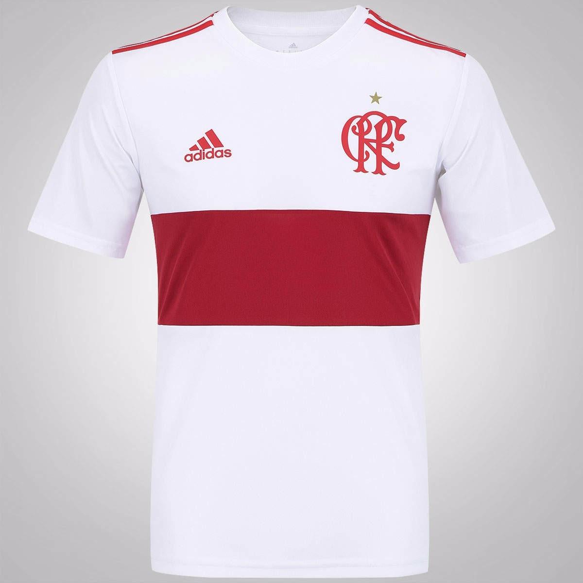 7b1e1c45a8919 Camisa Flamengo Branca adidas 2015/2016 - R$ 120,02 em Mercado Livre