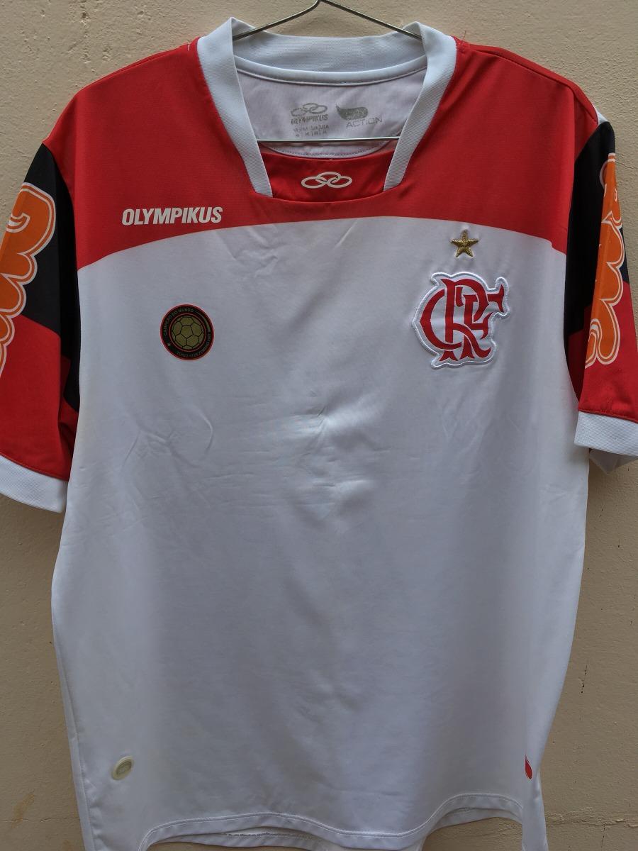 Camisa Flamengo Branca Olk 2011 2012 - Ronaldinho (apagado) - R  69 ... 847609f7e558d