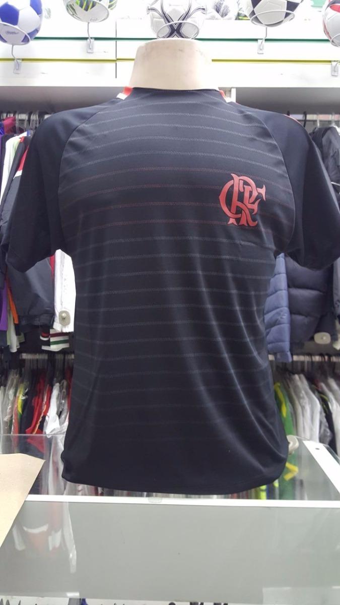 Camisa Flamengo Dry Temp Braziline Preta Lançamento - R  80 6bf897bf96cad