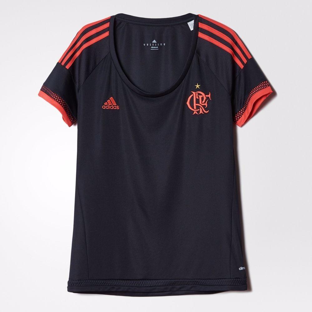 d64e8d348b4e Camisa Flamengo Feminina 2016 Preta 3 Original - Footlet