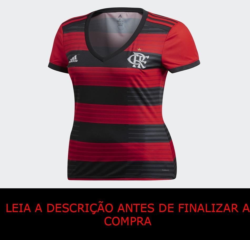 246a112c12 Camisa Flamengo Feminina - 2018/2019 - Lisa - R$ 130,00 em Mercado Livre