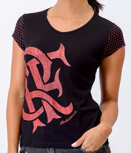 Camisa Flamengo Braziline Feminina Joy Original + Nf - R  69 6ac552a069e
