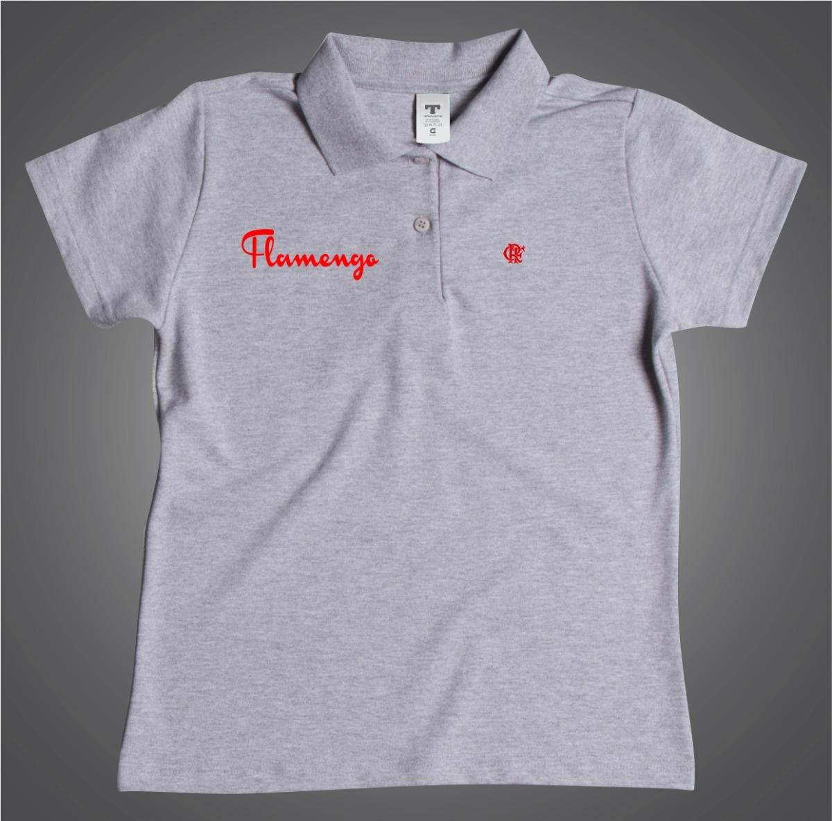 Camisa Polo Especial Flamengo Torcedora Feminina Baby Look - R  54 ... 6d77936db6ee7