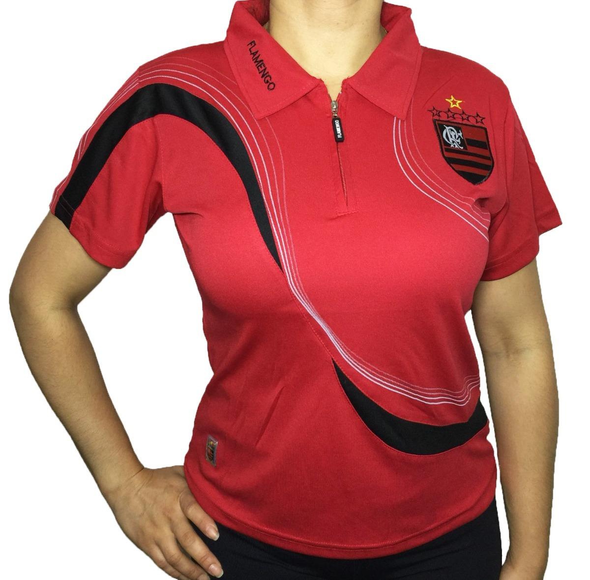 Camisa Polo Do Flamengo Baby Look Feminina Oficial - R  49 dad8ba048eb27
