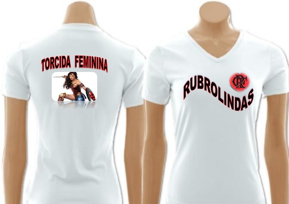 f5fa3bf835 Camisa Flamengo Torcida Feminina Rubrolinda - R  70