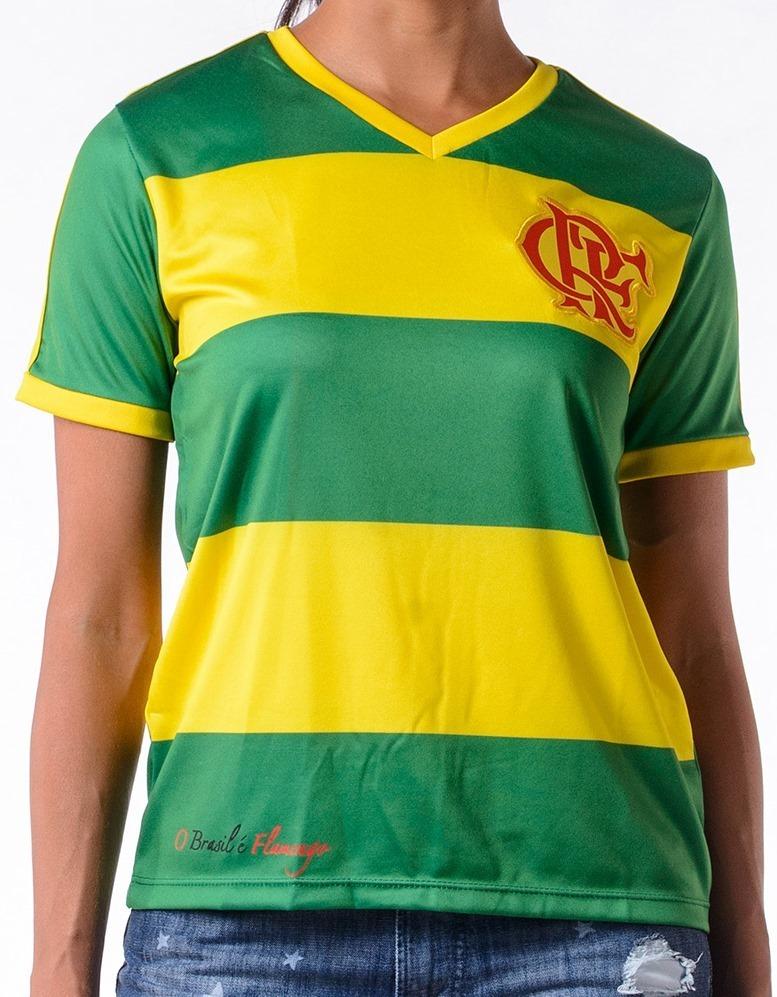 Camisa Flamengo Braziline Flabra Feminina Original + Nf - R  99 4f2c3d447382e
