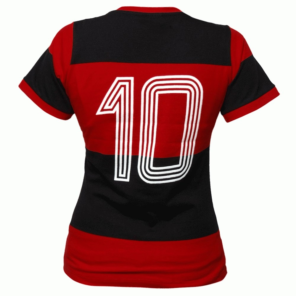 ab85fb5e55 Camisa Flamengo Feminina Retro Baby Look 1981 Zico Libertad. - R ...