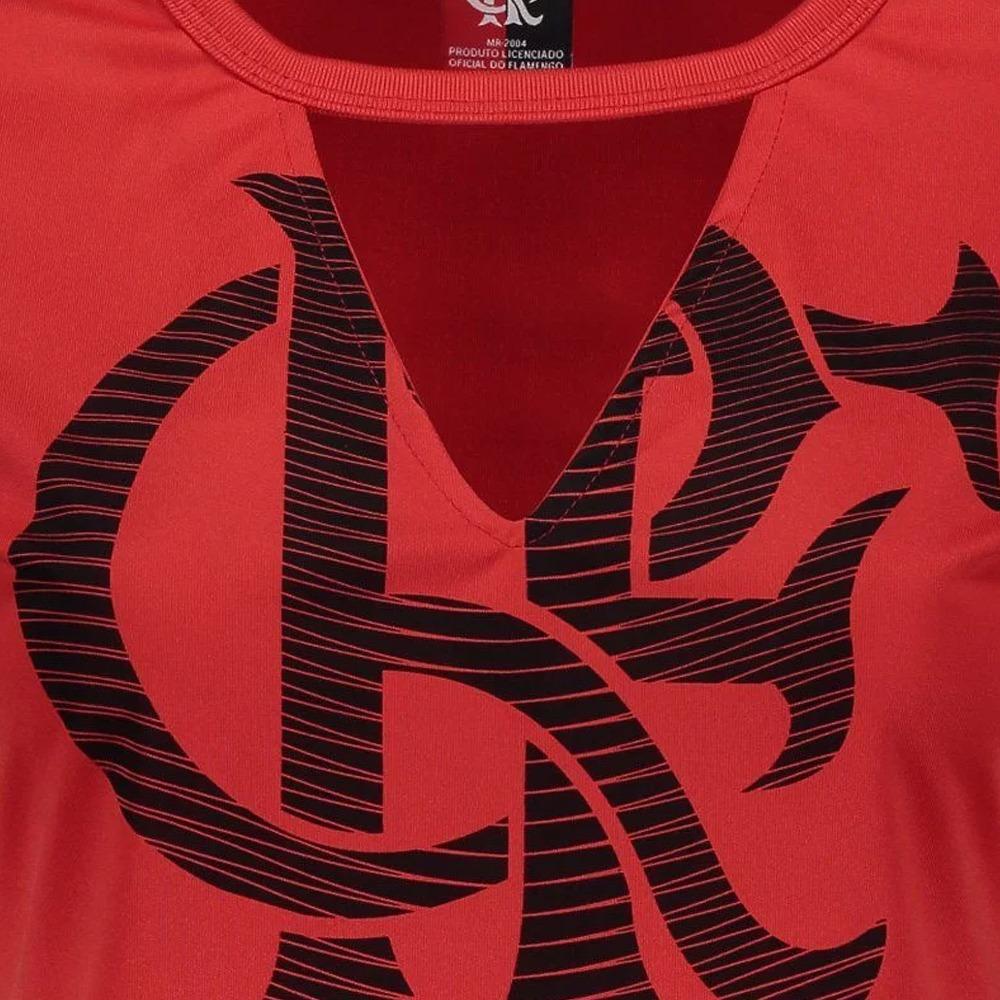 0e08ee541e Camisa Flamengo Feminina Oficial Blusinha Choker Baby Look - R  64 ...