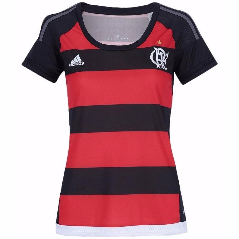 cea35ca8c9 Camisa Flamengo Feminina adidas Oficial 1 - R  99