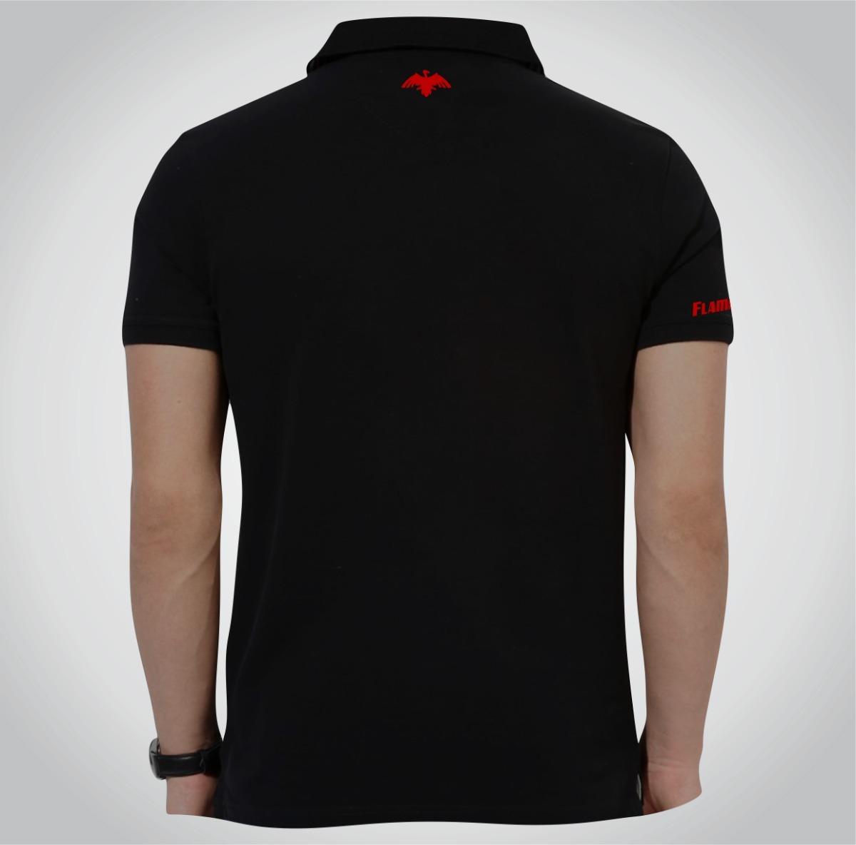 Camisa Polo Flamengo Branca Ou Preta Torcedor Ou Social Fla - R  54 ... 74814bfd03867