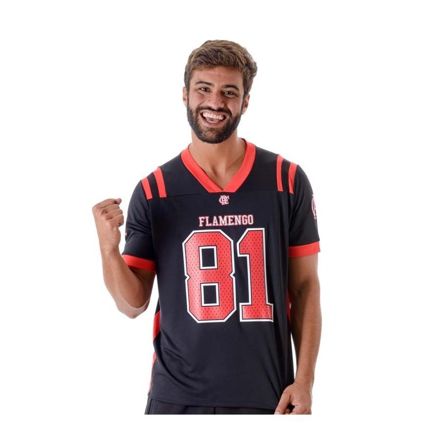 cb28f5528 Camisa Do Flamengo Estilo Futebol Americano Oficial Breed - R  97