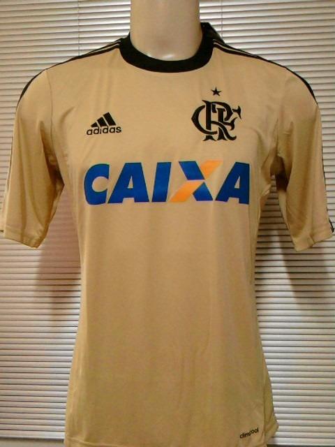 Camisa Flamengo Goleiro Dourada Oficial adidas 2013   2014 - R  129 ... 06df90ab9865c