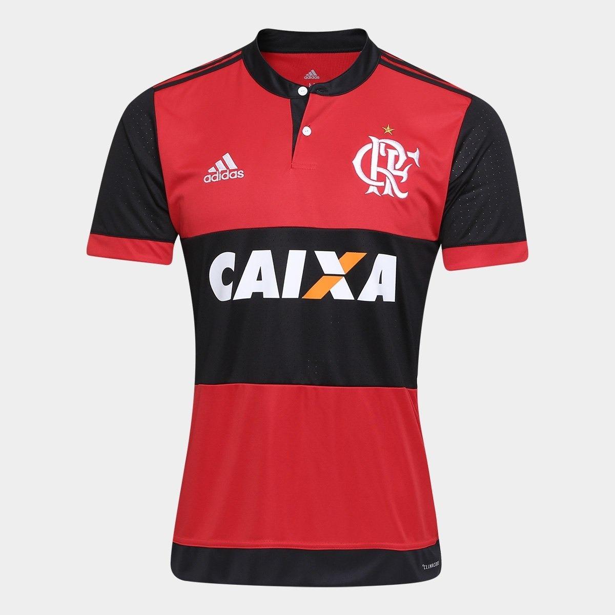 camisa flamengo i 17 18 - adidas masculina vermelho e preta. Carregando  zoom. c79f63e76a32c