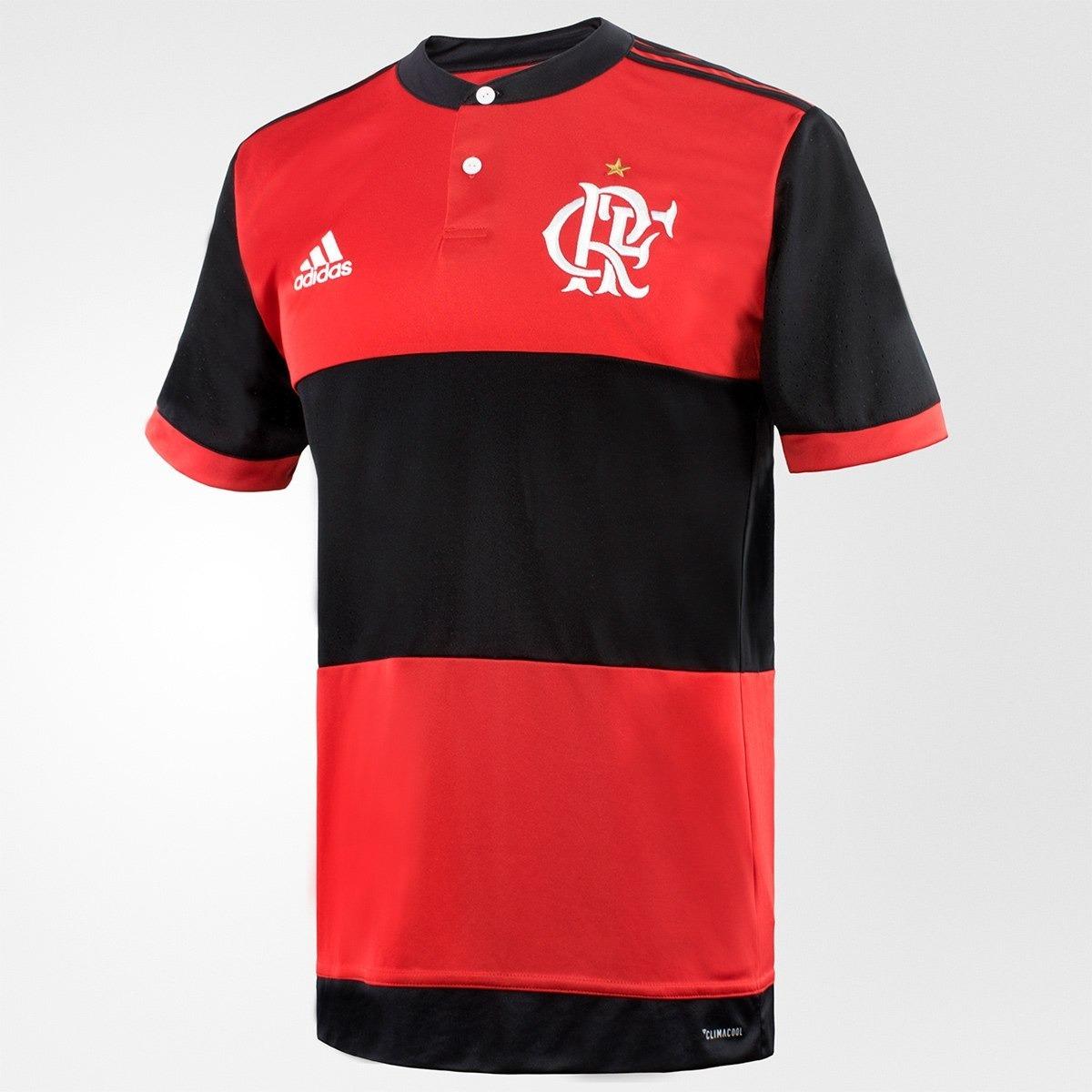 camisa flamengo i 17 18 masculina adidas original jp sports. Carregando zoom . b2709c048fdc5
