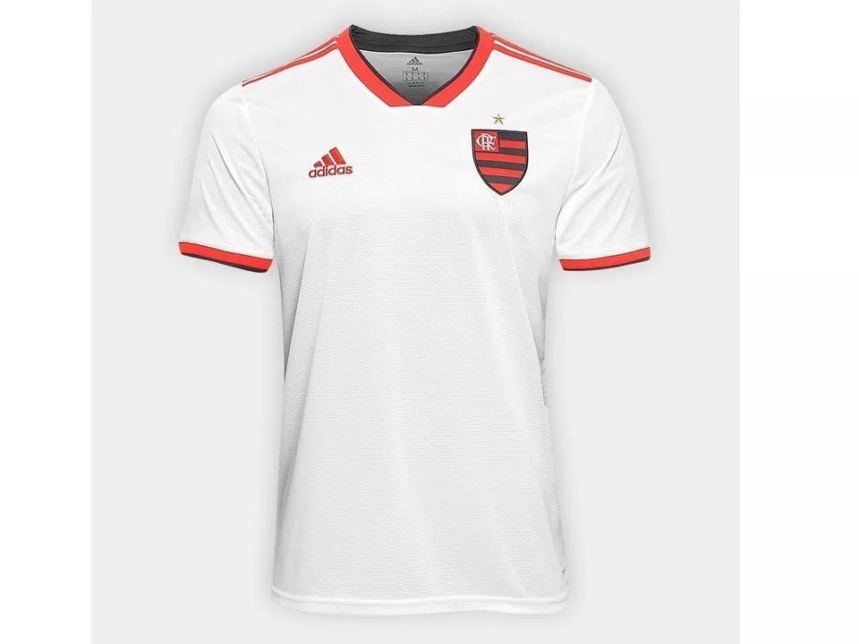 cd3a3350ba Camisa Flamengo Ii 2018 Branca adidas Nova Frete Grátis 2019 - R ...